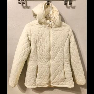 ZeroXposur white quilted jacket size Large
